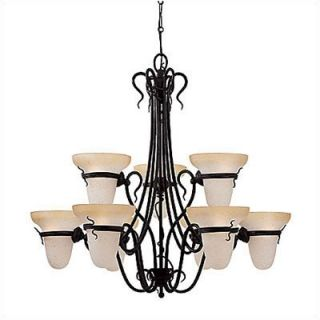Sea Gull Lighting Saranac Lake 9 Light Chandelier   3212 185