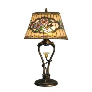 Dale Tiffany 27 Three Light Table Lamp in Antique Bronze