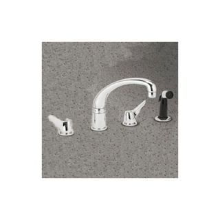 Elkay Deluxe Two Handle Widespread Kitchen Faucet with Side Spray and