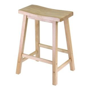 Winsome 24 Single Saddle Seat Stool in Natural