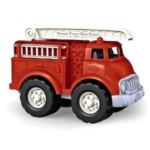 New Green Toys Recycled Plastic Fire Truck Made in USA