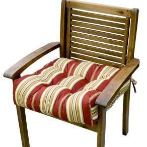 Greendale Home Fashions 20 inch Outdoor Chair Cushion 4800 Roma Stripe