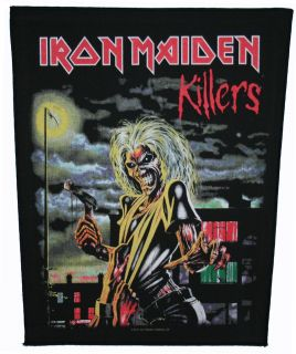 XLG Iron Maiden Killers Heavy Metal Music Band Woven Badge Applique