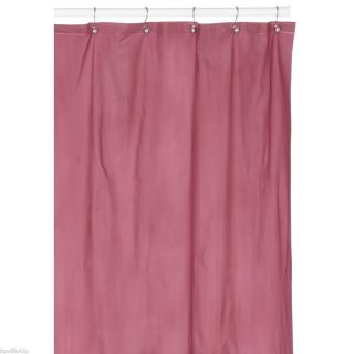 Rose Pink Heavy Vinyl Shower Curtain Hotel Weight Metal Grommets New