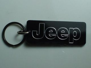 Jeep Key Chain Wrangler Rubicon Grand Cherokee Laredo Black Chrome