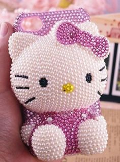 Bling Rose Hello Kitty BOW for cell Phone iPhone4 4s Case Cover NEW
