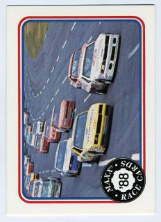 1988 Maxx Race Cards 49 Chevrolet Ford Lead in 1987 Charlotte
