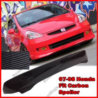 Rear Spoiler Wing Carbon Fiber Body Kit Jazz Spoon Style Hatch