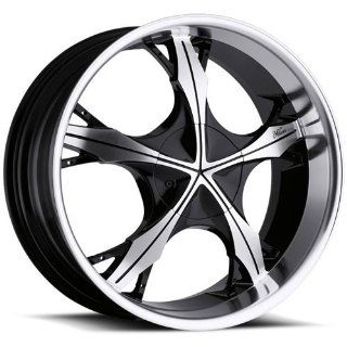 Milanni Temptist 20 Machined Black Wheel / Rim 5x4.5 & 5x4.75 with a