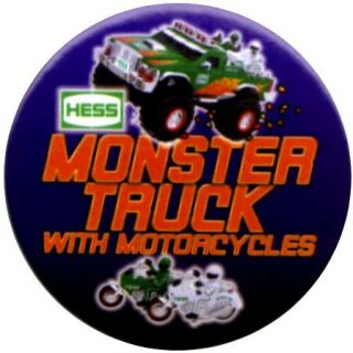 Hess Toy Truck Advertising Employee Pin Button 2007 (sixtenth button