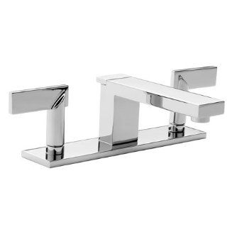 Metro Double Handle Widespread Lavatory Faucet with Metal Lever