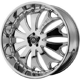 Lorenzo WL029 20x8.5 Chrome Wheel / Rim 6x5.5 with a 38mm Offset and a