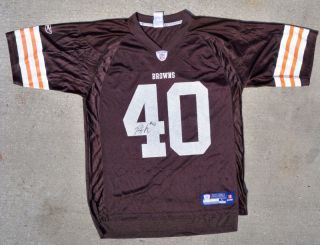 Cleveland Browns 40 Peyton Hillis Signed Auto Jersey