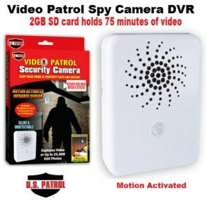 Video Patrol Motion Activated Hidden Security Camera
