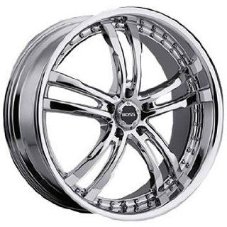Boss 337 22x9 Chrome Wheel / Rim 5x120 with a 20mm Offset and a 82.80