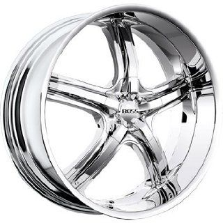 Boss 333 24 Chrome Wheel / Rim 6x5.5 with a 32mm Offset and a 108.20