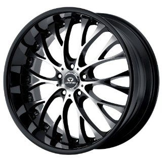 19x8 Lorenzo WL27 (Gloss Black w/ Machined Face) Wheels/Rims 5x112