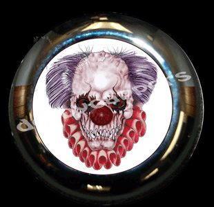 Evil Clown Horn Cover Fits Harley Davidson Custom by DerbyCappers