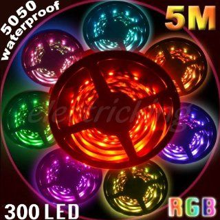 16.4Ft 5M 5050 RGB SMD LED Waterproof Flexible Strip 300
