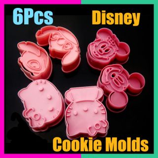Disney Mickey Minny Hello Kitty Stitch Cake Cookie Biscuit Mold Cutter