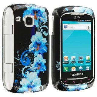 Blue Flowers Design Crystal Hard Skin Case Cover for