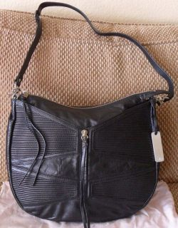 New Botkier Haven Black Leather Hobo Handbag Bag $545 Save $299