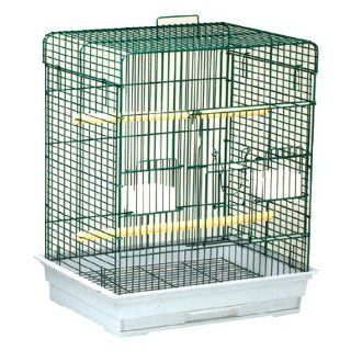Blue Ribbon Square Style Roof Bird Cage, 24 Inch by 18