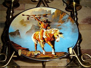Hermon Adams Spirit of The South Wind Indian Franklin Mint Plate