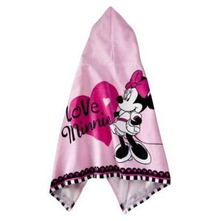 Minnie Mouse Kids Girls Pink Terry Hooded Beach Pool Bath Towel