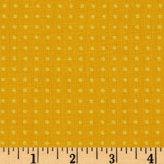 44 Wide Juicy Blossoms Dots Yellow Fabric By The Yard