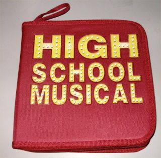 High School Musical CD Board Game Disney Red Carry Case