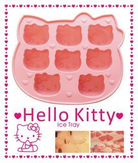 New Hello Kitty Silicone Cube Ice Trays Ice Candy Mold Maker Party