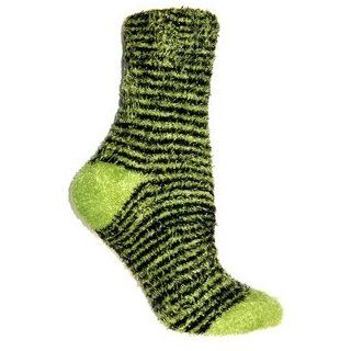 Foot Traffic Warm Womens Fuzzy Socks Super Soft   Black