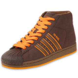 adidas Mens Pro Model Basketball Shoe Brown/Orange