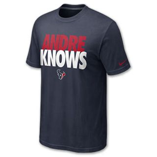 Nike NFL Houston Texans Andre Knows Mens Tee Shirt