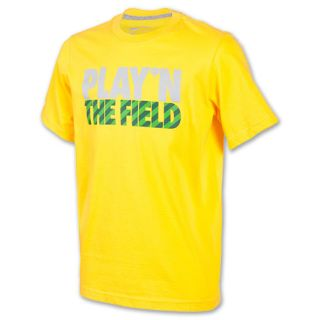 Kids Nike Field Tee Shirt Varsity Maize/Dark Grey