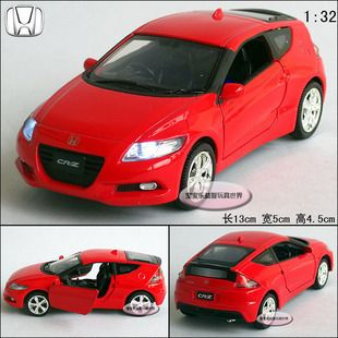 New 1 32 Honda CR Z Alloy Diecast Model Car with Sound Light Red B220B