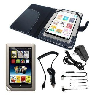 Premium Black Leather Case with LCD Clear Screen Protector