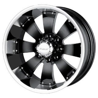 22 Inch 22x12 Mazzi wheels HULK 755 Black w/ Machined Lip wheels rims