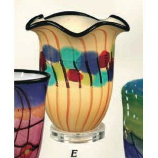 Dale Tiffany Favrile Accent Lamp Celebration Art Glass