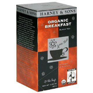 Harney & Sons Black Tea, Organic Breakfast, Case of Six 20