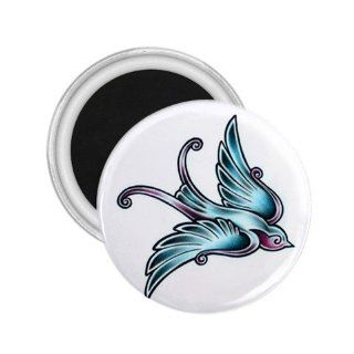 Graphic Bird Tattoo Fridge Souvenir Magnet   Refrigerator