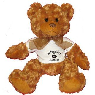 UNIVERSITY OF XXL FLUFFERS Plush Teddy Bear with WHITE T