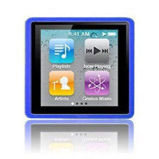 Modern Tech Blue Soft Gel Case for Apple iPod Nano 4 6G