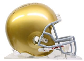 Joe Montana Signed 1977 National Champs F s Notre Dame Helmet