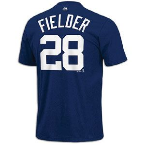 Majestic MLB Name and Number T Shirt   Mens   Prince Fielder   Tigers