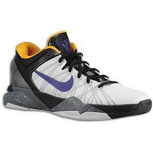 Nike Kobe VII   Mens   Basketball   Shoes   White/Black/University