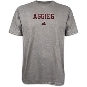 adidas College School Block T Shirt   Mens   Texas A&M   Grey Heather