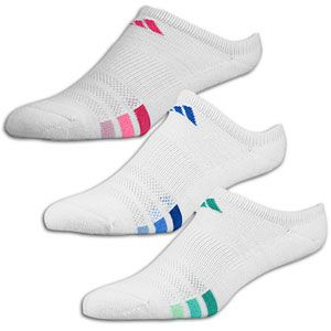 adidas Variegated 3 Pack No Show Sock   Womens   White/Blue/Green