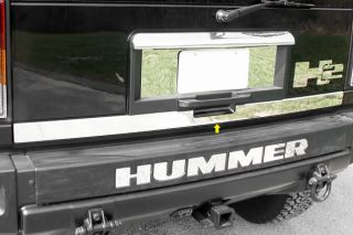03 09 H2 Rear Tailgate, Mirror Polished Truck SUV Chrome Trim